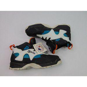 RARE Vintage Florida Marlins Mens 8 Sneakers Shoes Baseball Teal Black MLB 90s